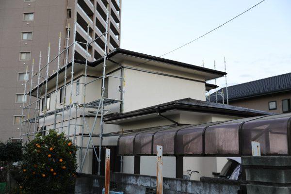 水戸市のK様邸で外壁屋根塗装