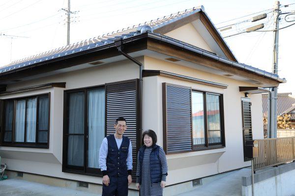 笠間市のI様邸で外壁、屋根塗装
