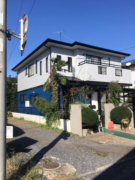 水戸市で外壁屋根塗装とウッドデッキ塗装