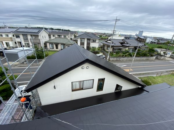水戸市でラジカル抑制塗料使った屋根塗装