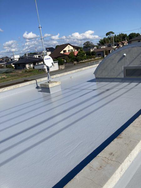 水戸市の小児科病院で屋上防水工事